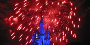 Fireworks over the Magic Kingdom.