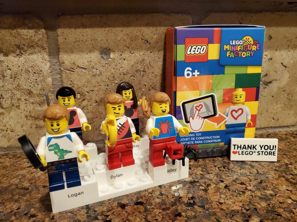 The Cromer Family as lego minifigures.