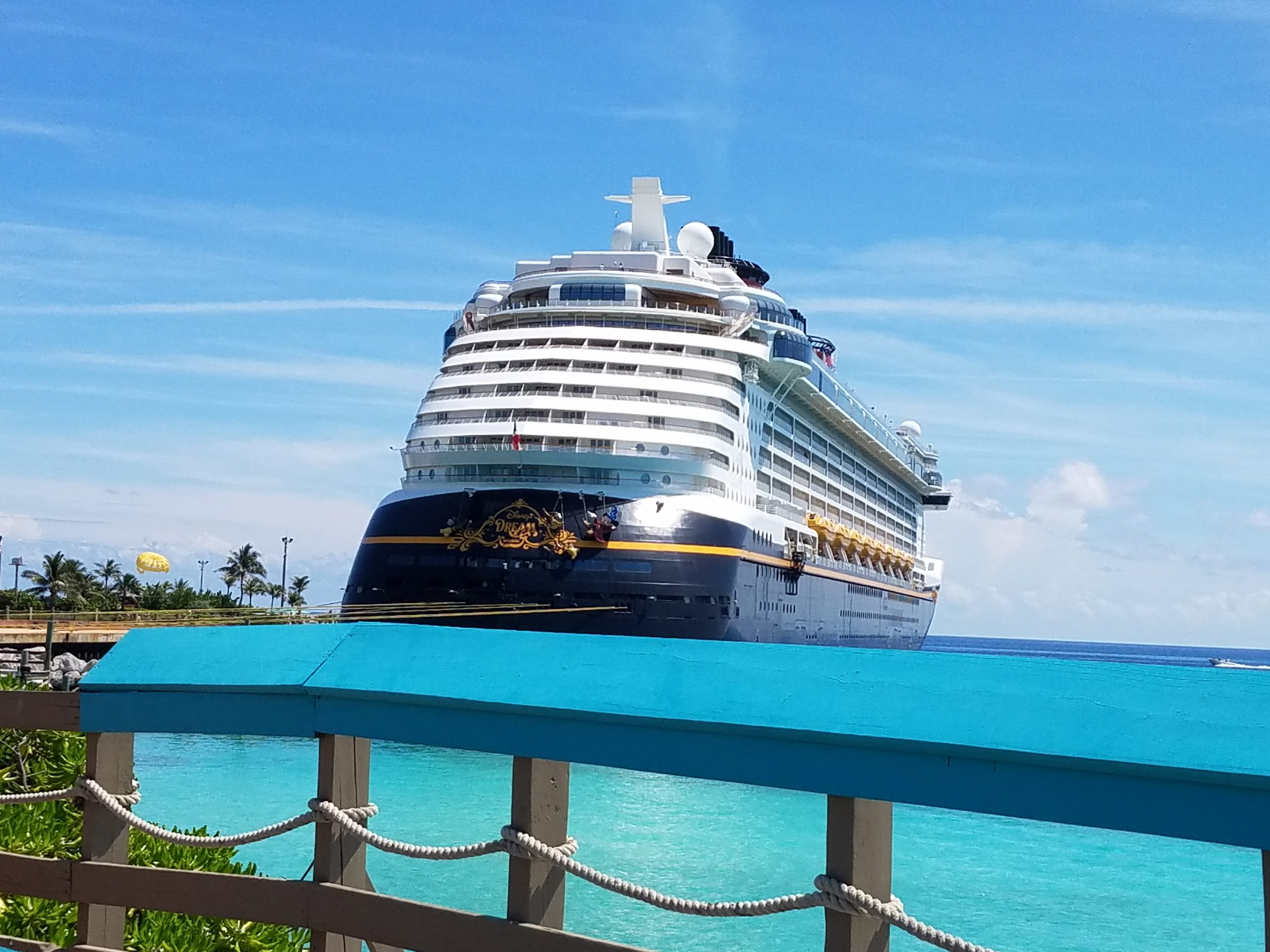 The Disney Dream in port at Castaway Cay.